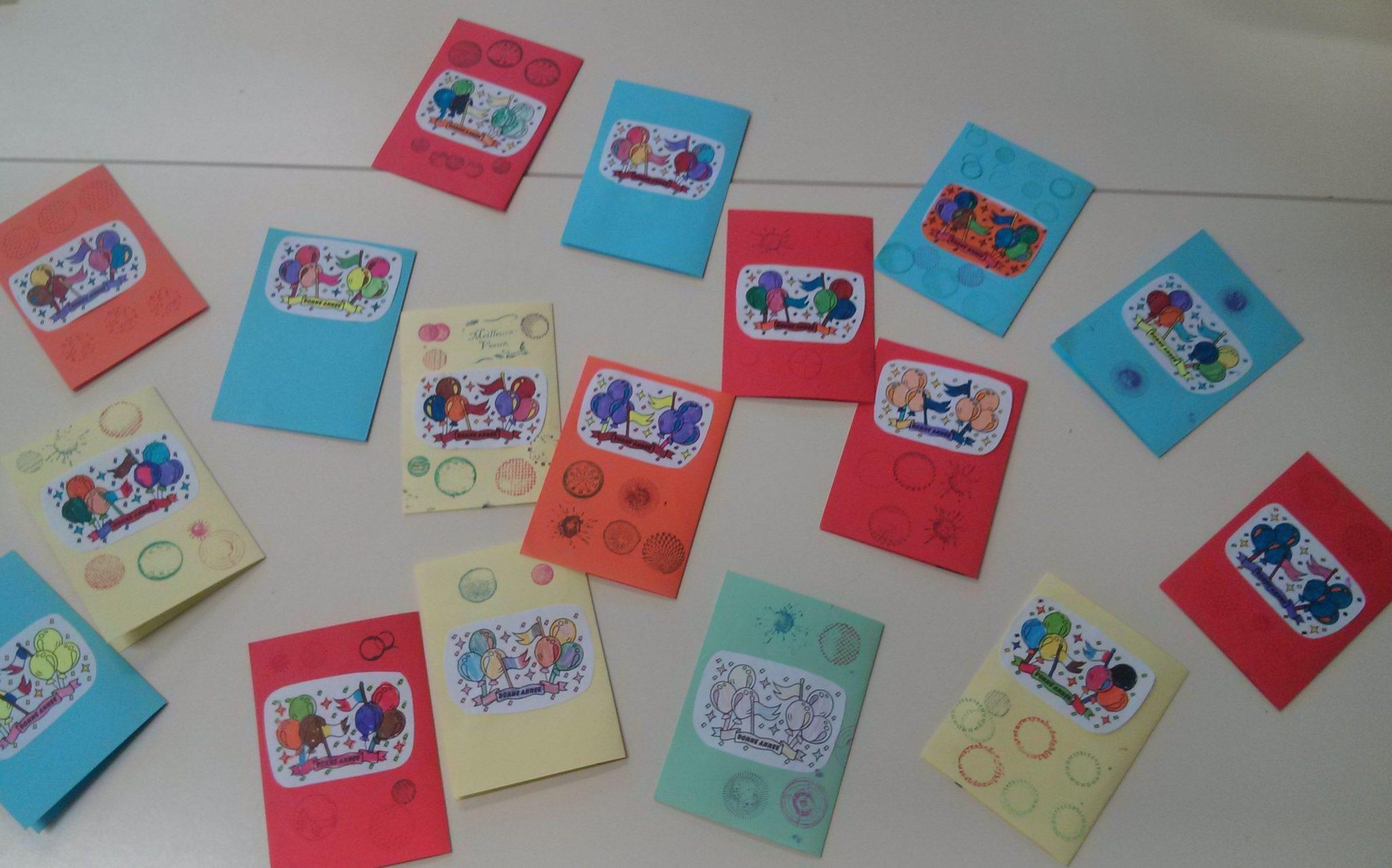 carte de voeux cp Projet d'écriture CP : envoyer une carte de vœux. |